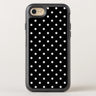 Small White Polka Dots Black Background OtterBox Symmetry iPhone 8/7 Case