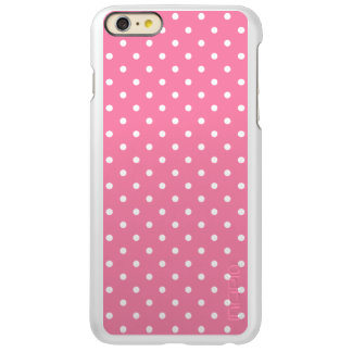 Small White Polka Dots on hot pink iPhone 6 Plus Case