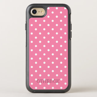 Small White Polka Dots On Hot Pink OtterBox Symmetry iPhone 7 Case