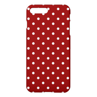 Small White Polka dots red background iPhone 8 Plus/7 Plus Case