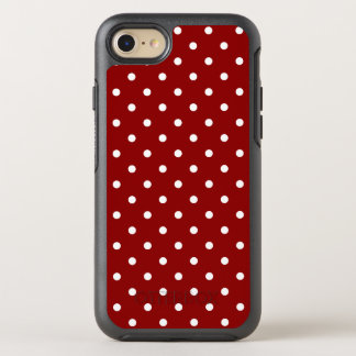 Small White Polka Dots Red Background OtterBox Symmetry iPhone 7 Case