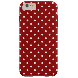 Small White Polka dots red background Tough iPhone 6 Plus Case