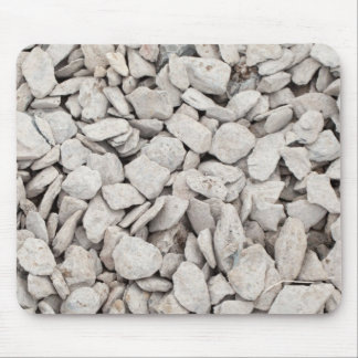 Small White Stone Cover Mouse Pad