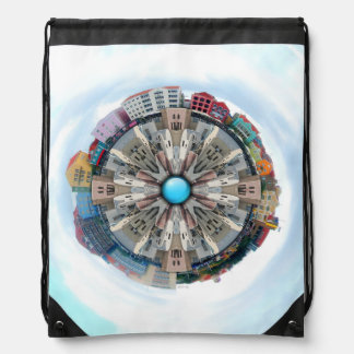 Small World In The Clouds Drawstring Backpacks