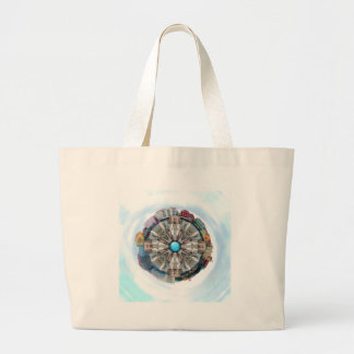 Small World In The Clouds Jumbo Tote Bag