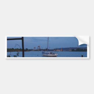 Small Yacht Anchored In The Black Sea Bumper Sticker