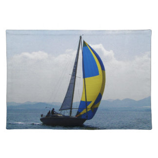 Small yacht big spinnaker. placemat