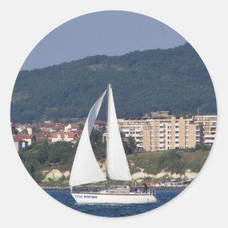 Small Yacht Classic Round Sticker