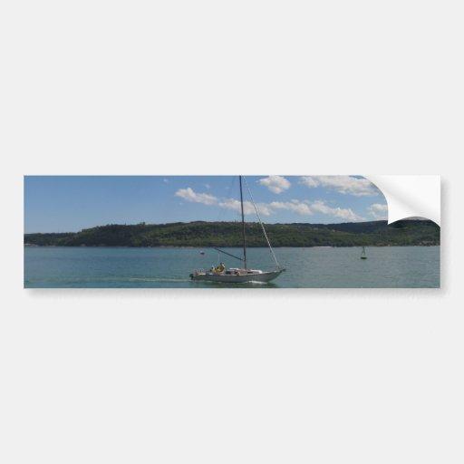 Small Yacht Returning To Port Bumper Sticker