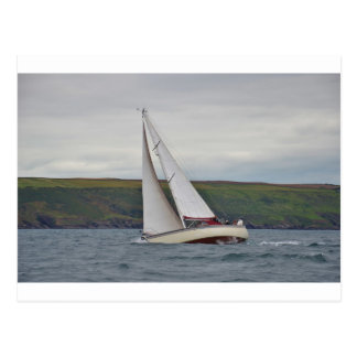 Small Yacht Sailing Hard Postcard
