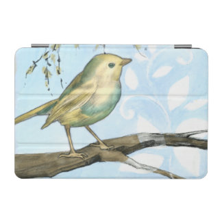 Small Yellow Bird Perched on a Branch Looking up iPad Mini Cover