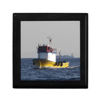 Small Yellow Fishing Boat Gift Box