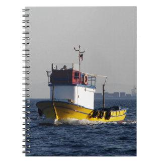 Small Yellow Fishing Boat Notebook