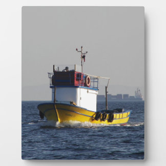 Small Yellow Fishing Boat Plaques