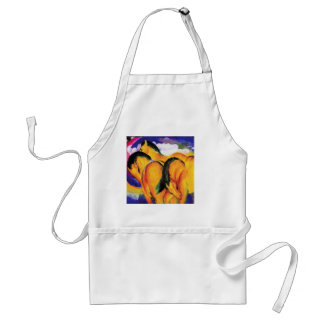 Small Yellow Horses by Franz Marc Standard Apron