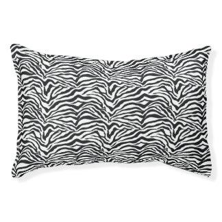 Small Zebra Stripes Animal Print Pattern Dog Bed