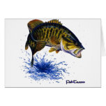Smallmouth Bass leaping Greeting Card