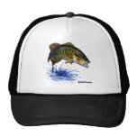 Smallmouth Bass leaping Trucker Hat