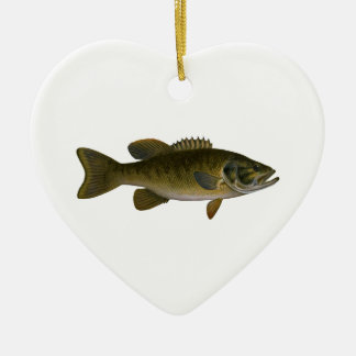 Smallmouth Bass Logo Christmas Ornament