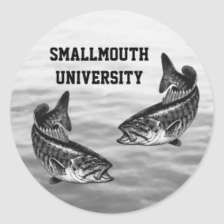 Smallmouth University - Bass Fishing Round Sticker