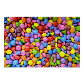Smarites - chocolate candy background poster