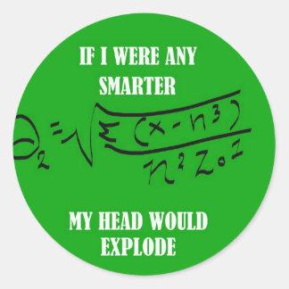SMART2.jpg Round Sticker