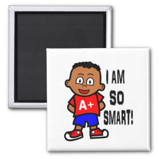 Smart African American Boy Magnet