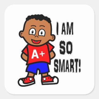 Smart African American Boy Stickers