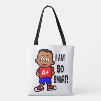 Smart African American Boy Tote Bag