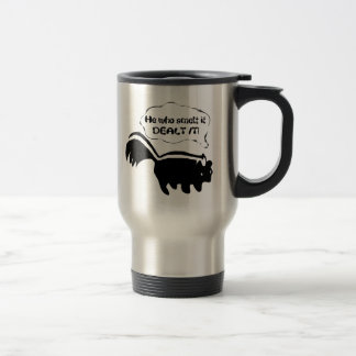 smart aleck skunk travel mug