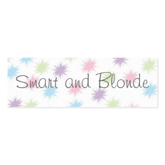 Smart and Blonde  Bookmark Business Card