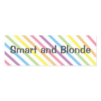 Smart and Blonde  Bookmark Pack Of Skinny Business Cards