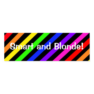 Smart and Blonde  Bookmark Business Card Templates