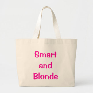 Smart and Blonde Large Tote Bag