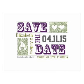 smart and chic save the date wedding postcards