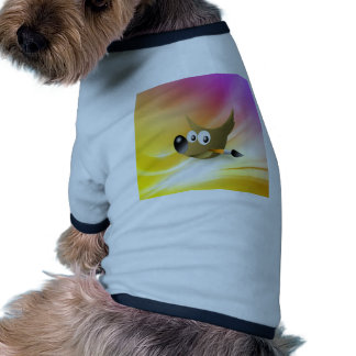 Smart and intelligent dog with pen pet shirt