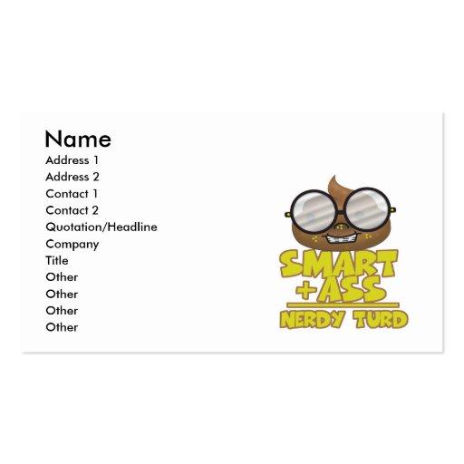 smart ass nerd turd equation pack of standard business cards