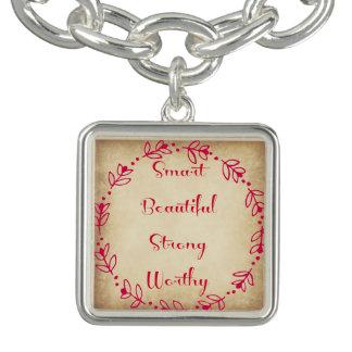 Smart Beautiful Strong Worthy Bracelet