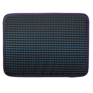 Smart black and blue dot print laptop sleeve sleeves for MacBooks