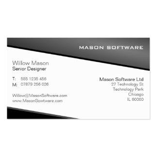 Smart Black and Gray Professional Business Card