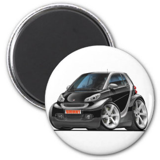 Smart Black Car 6 Cm Round Magnet