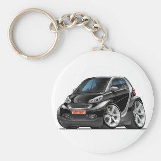 Smart Black Car Basic Round Button Key Ring