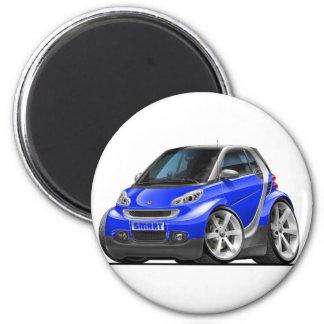 Smart Blue Car 6 Cm Round Magnet