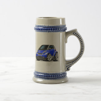 Smart Blue Car Beer Stein