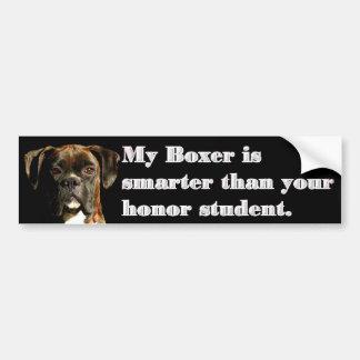 Smart boxer bumper sticker car bumper sticker