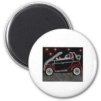 Smart Car 6 Cm Round Magnet