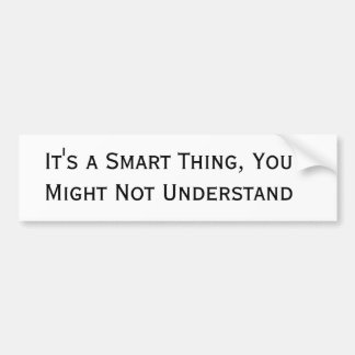 Smart Car Bumpersticker Bumper Sticker