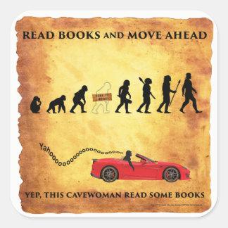 Smart Cavewoman: Read Books and Move Ahead Sticker