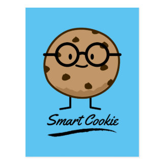 Smart Cookie Chocolate Chip Cookies Glasses Postcard