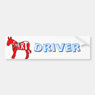 Smart Democratic Donkey Bumper Sticker